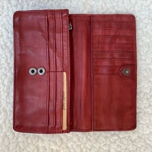 """Harbour 2nd Leather Wallet Red 7.25 x 3.5"""""""